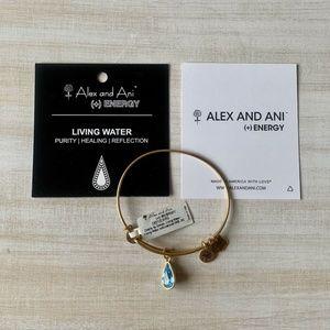 NEW Alex & Ani Living Water Teardrop Gold Bracelet